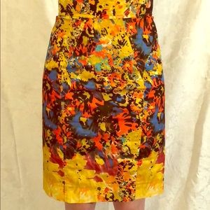 Nordstrom  pencil skirt very colorful